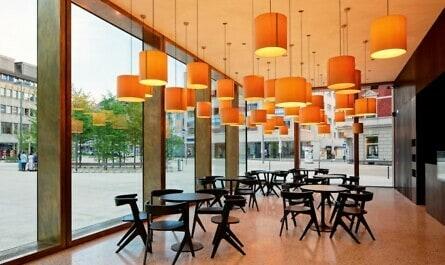 Fußbodenheizung auf Gussasphalt im Restaurant