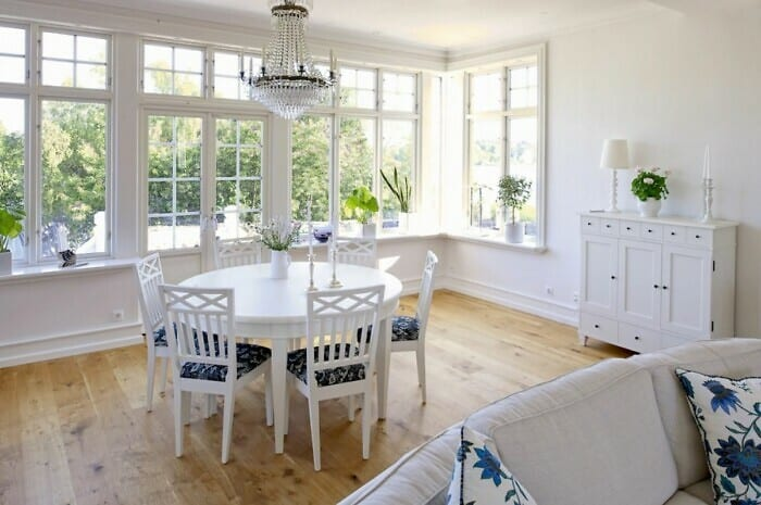 Wohngesunde, skandinavische Parkettböden