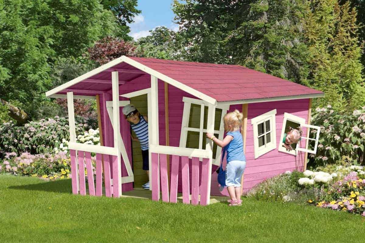 Schiefes Spielhaus für Kinder