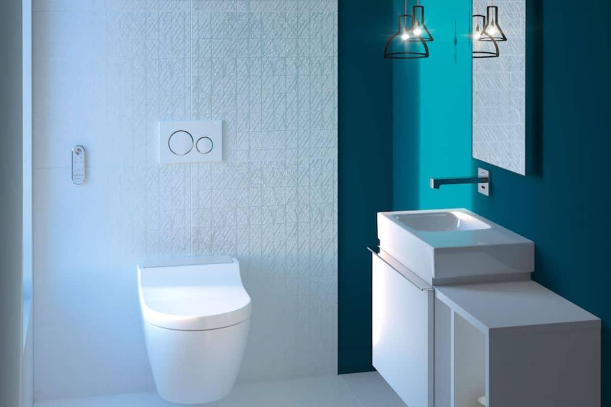 Dusch-WC im modernen Badezimmer