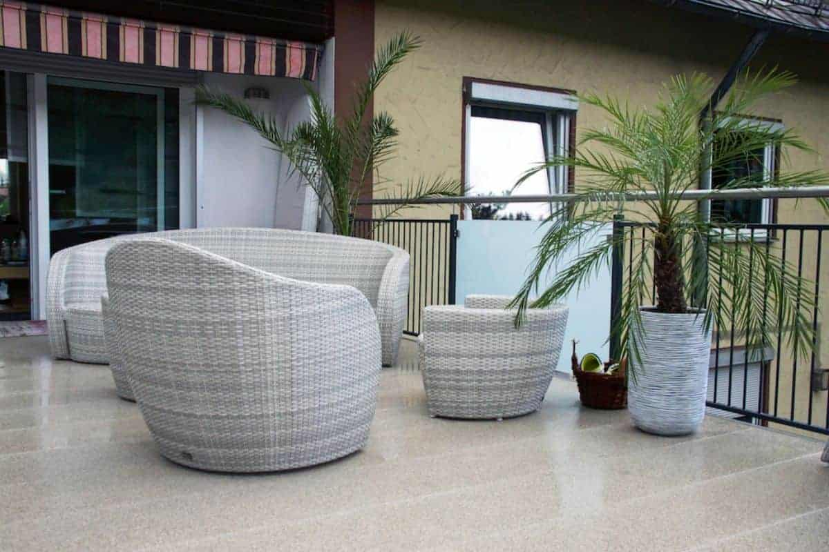 Paneelsystem für die Terrasse
