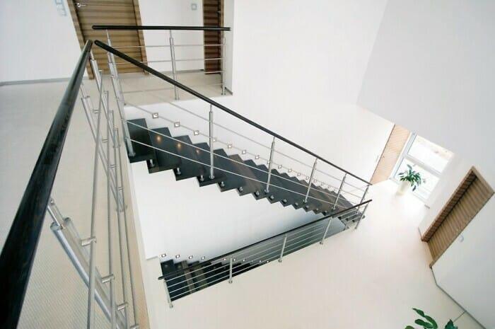 Freitragende Treppen vermitteln Wohnqualität