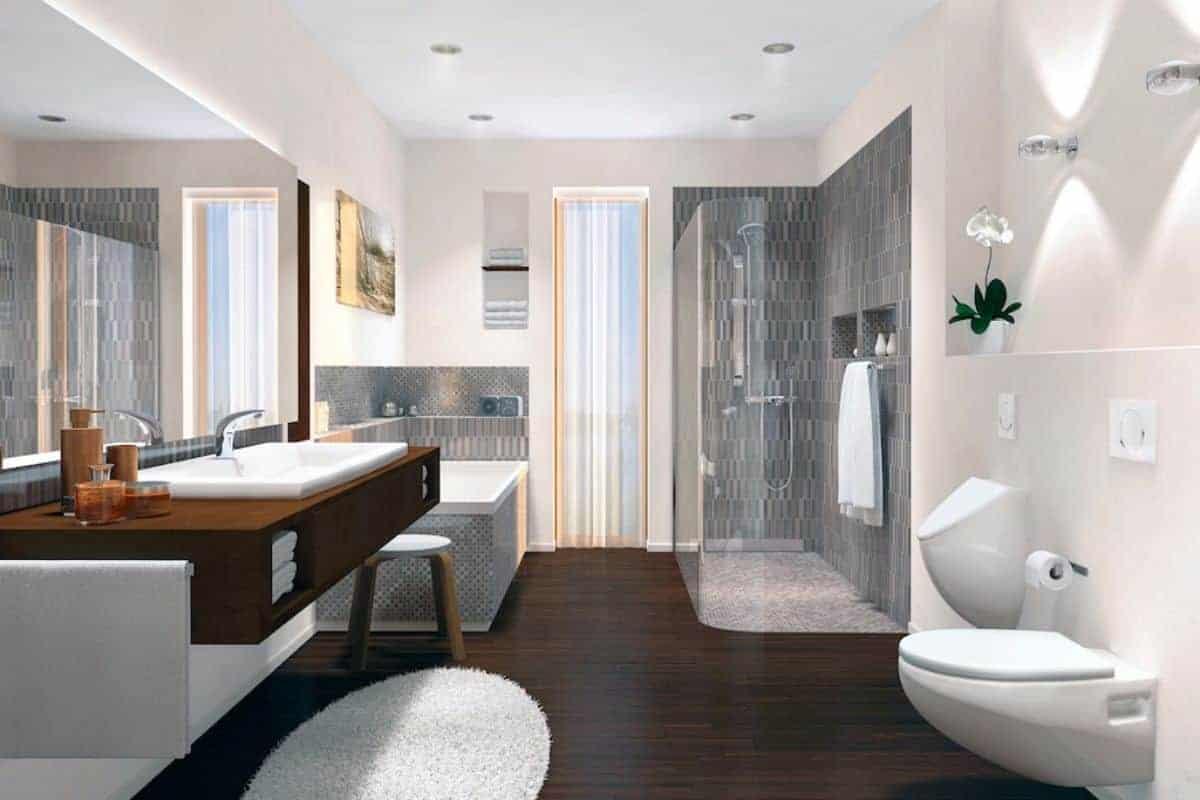 Modernes Badezimmer mit Air-WC