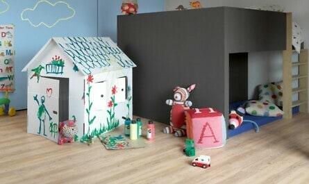 Kinderzimmer mit robustem Vinylboden
