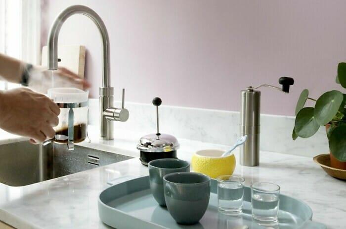 Kochend-Wasserhahn spart Zeit