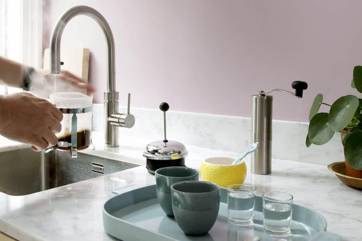 Kochendwasserhahn in der Küche