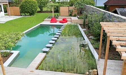 Natürlicher Schwimmteich im Garten