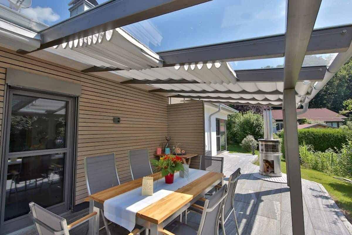 Terrassendach aus Acryltüchern