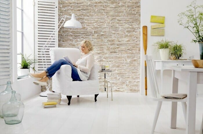 Originelle Wandgestaltung mit Naturstein