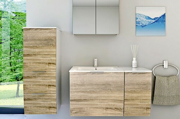 Bezauberndes Badezimmer