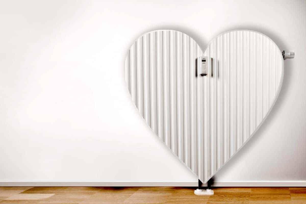 Heizung in Herzform