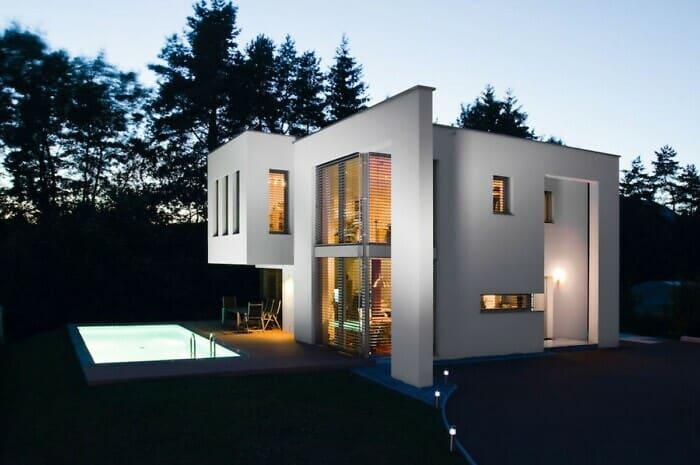 Passivhaus, Photovoltaik und Flachdach