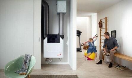 Lüftungsgerät im Keller bietet Frischluft