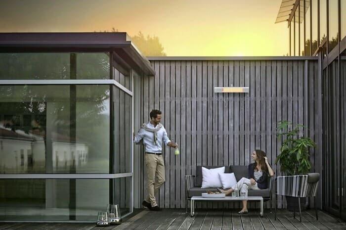 Infrarotwärme für Terrasse und Balkon