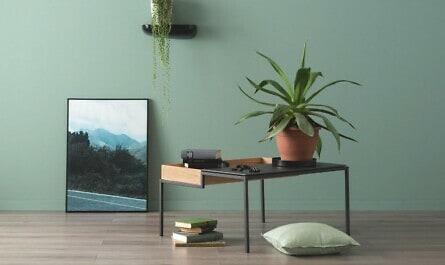 Flur mit Farbe in natürlichem Grün