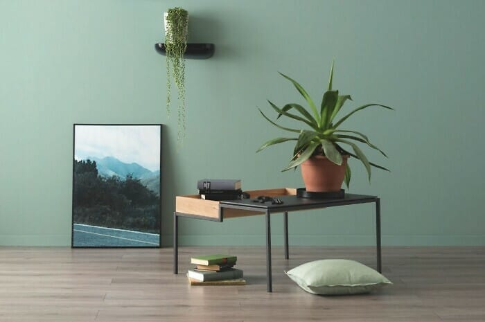 Wandfarben in Grüntönen bringen Natürlichkeit