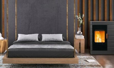Ofen im Schlafzimmer