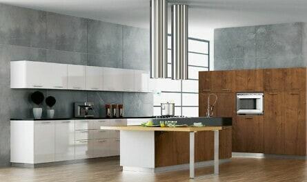 Moderne Küche mit Holzoptik