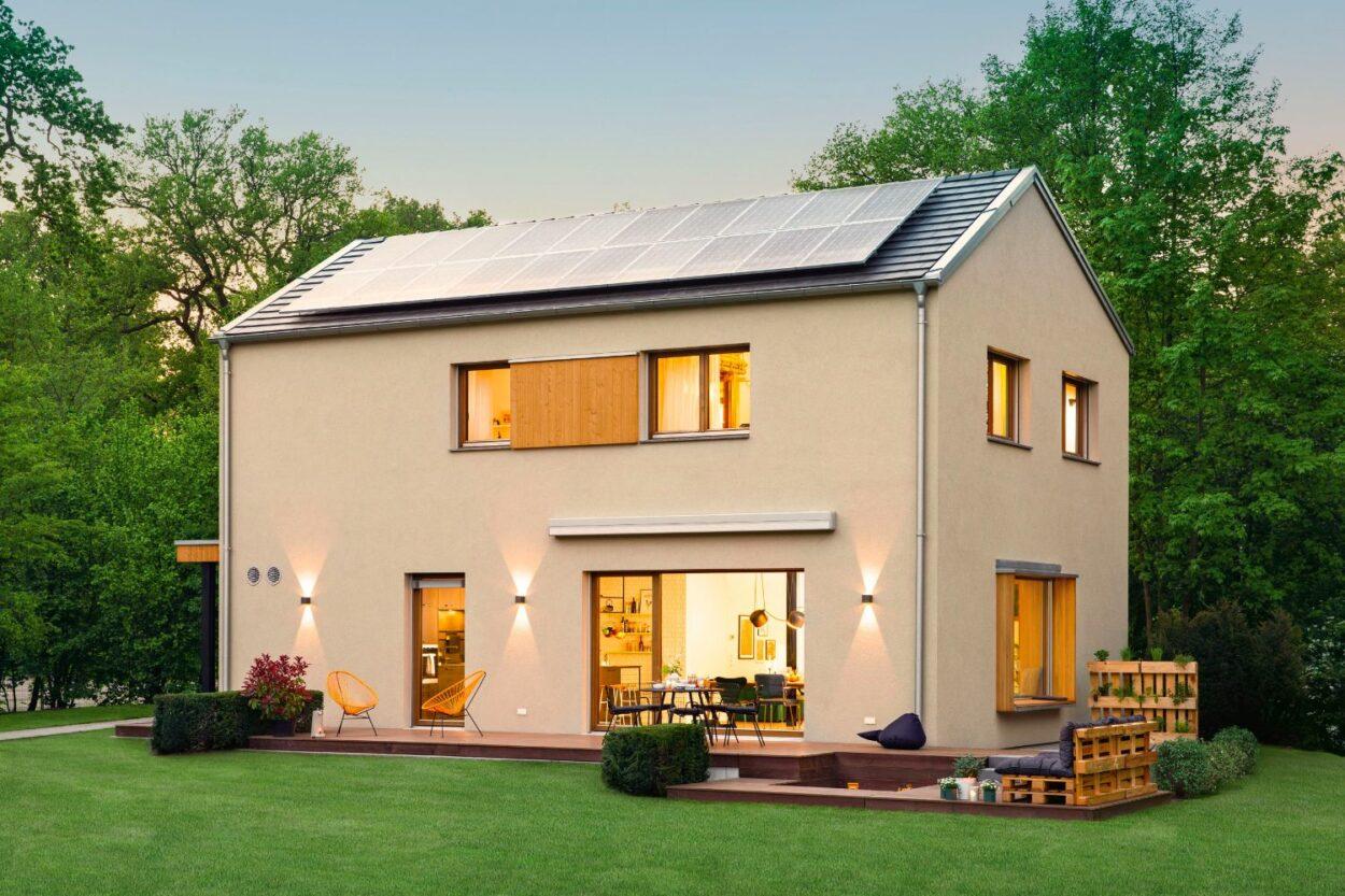 Zweifamilienhaus mit Solaranlage