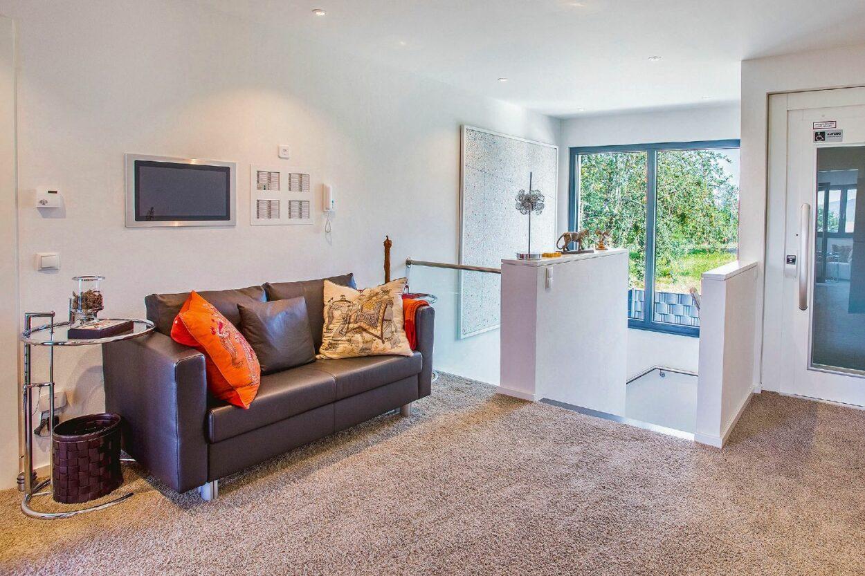 Wohnzimmer mit barrierefreiem Zugang