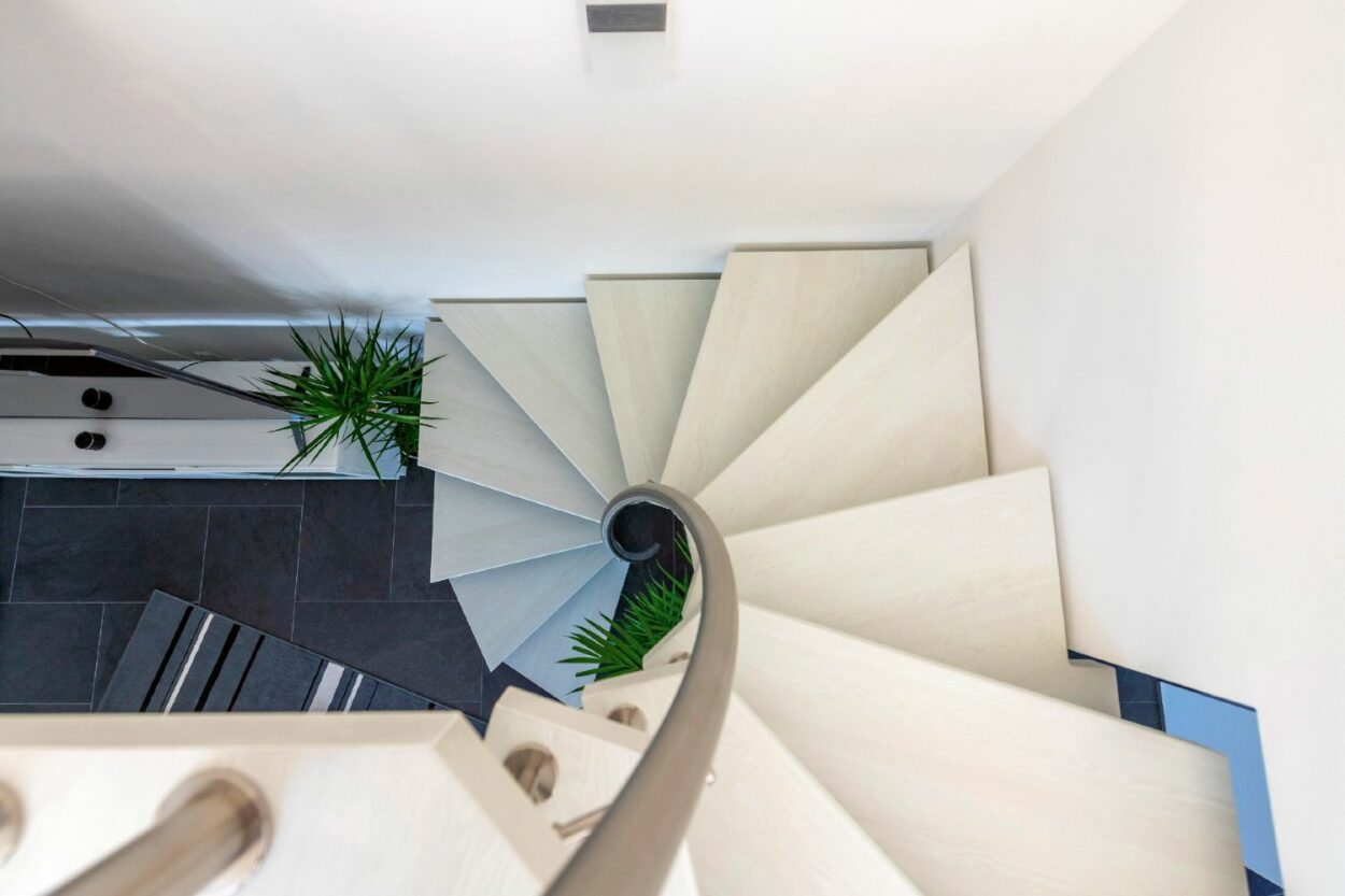 Treppe mit Stufenmaterial Longlife