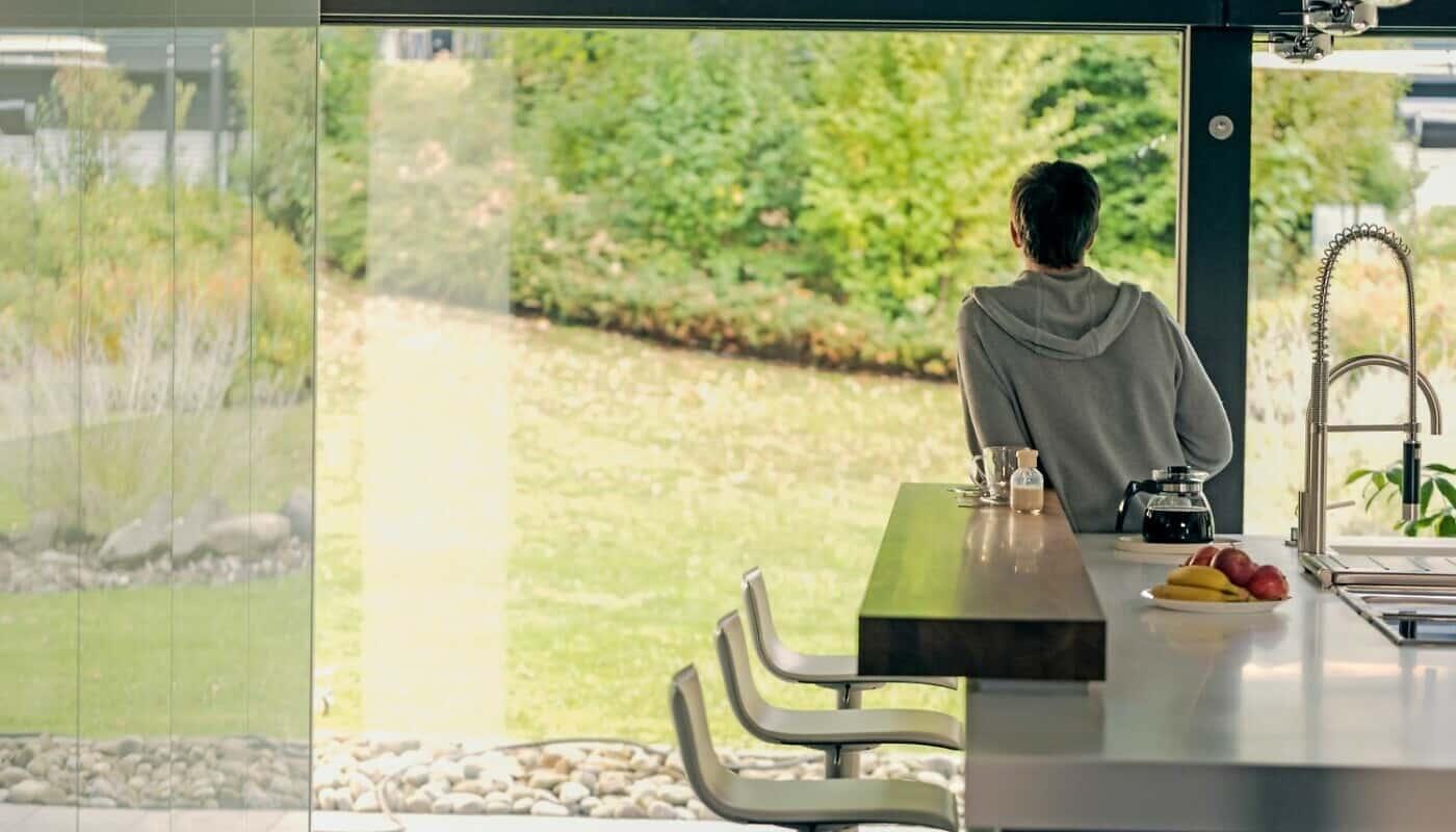 Glasfassade bietet Ausblick